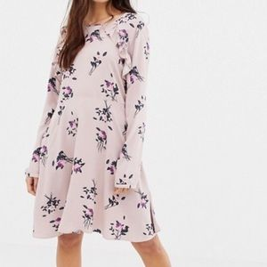 ASOS Vila blush colored floral dress